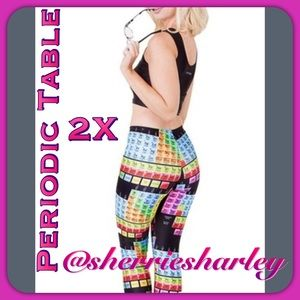 ➕Plus Size 2X Periodic Table Workout Pants 💜